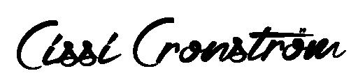 Konstnär Cissi Cronstöm Logo